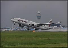 A7-BEX Boeing 777-3DZ(ER) Qatar Airways (elevationair ✈) Tags: ams eham amsterdam schiphol schipholairport netherlands holland europe avgeek aviation airplane plane aircraft arrival departure boeing t7 tripler tripleseven 777 773 qatar qatarairways a7bex boeing7773dzer