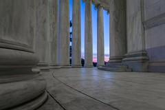 Seeking Color (BenBuildsLego) Tags: washington dc jefferson memorial architecture classical column columns greek roman sunset sun sunrise low ground rotunda thomas