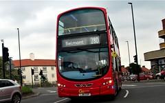 London General WHV16 on route 280 Rose Hill roundabout 19/05/19. (Ledlon89) Tags: bus buses london tfl transport transportforlondon londonbus londonbuses