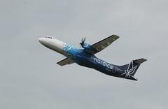 ES-ATA take off. (aitch tee) Tags: esata takeoff turboprop airliner aircraft ttail aircraftspotting cwlegff maesawyrcaerdydd walesuk
