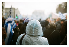 0083-5389-21 (jimbonzo079) Tags: demonstration mass meeting demo protest macedonia weather rain raincoat tarpaulin street road athens greece hellas 2019 μακεδονία ελλάδα ελλάσ αθήνα landscape bokeh people flag light mood city town urban zenit et helios mc 44m4 58mm f20 kodak colorplus 200 35mm 135 negative film analog slr lens vintage old c41 color ussr zenitet heliosmc44m458mmf20 heliosmc44m4 kodakcolorplus200 massmeeting macedoniaisgreek