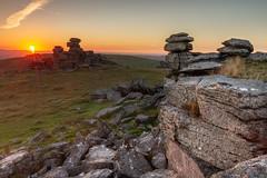 StapleTor Sunset (joerusson) Tags: climbing dartmoor landscape photography sigma1835 canon sunset hiking peaceful leefilters