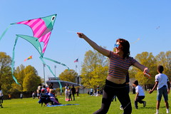 Beautiful and High 2 (Abbie Stoner) Tags: girl woman kite portrait redhead park outside
