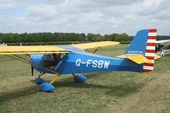 G-FSBW (IndiaEcho) Tags: eghp popham airport airfield light general civil aircraft aeroplane aviation basingstoke hampshire gfsbw eurofox 912 england canon eos 1000d microlight fly in