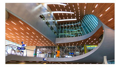 Arnhem Central Station (Fr@ηk ) Tags: light people architecture hall europa europe ns modernart arnhem thenetherlands indoor ceiling trainstation interest aa prorail frnk canon6d canoneos6d mrtungsten62 frankvandongen ef1635mmisl europ12 dof pov artistimpression frame composition perspective ff travel transportation railwaystation mg59 ƒr㋡ηk
