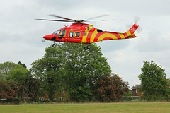 Essex & Herts Air Ambulance in St Albans (kertappa) Tags: img2128 air ambulance herts hertfordshire essex hems doctor paramedics hospital ghhem emergency helicopter cunningham hill green space park st albans