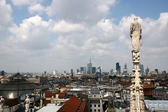 Atop Milan Cathedral (3.) (crashcalloway) Tags: milan milancathedral duomo cathedral statue skyline city italy italia sky clouds