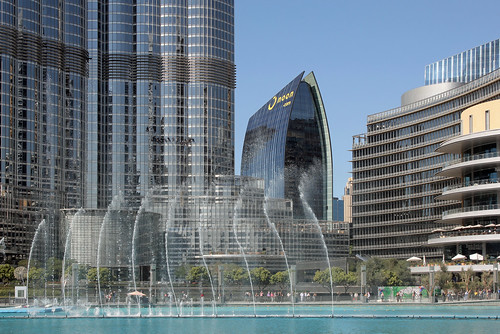 The Dubai Fountain in the Burj Khalifa Lake