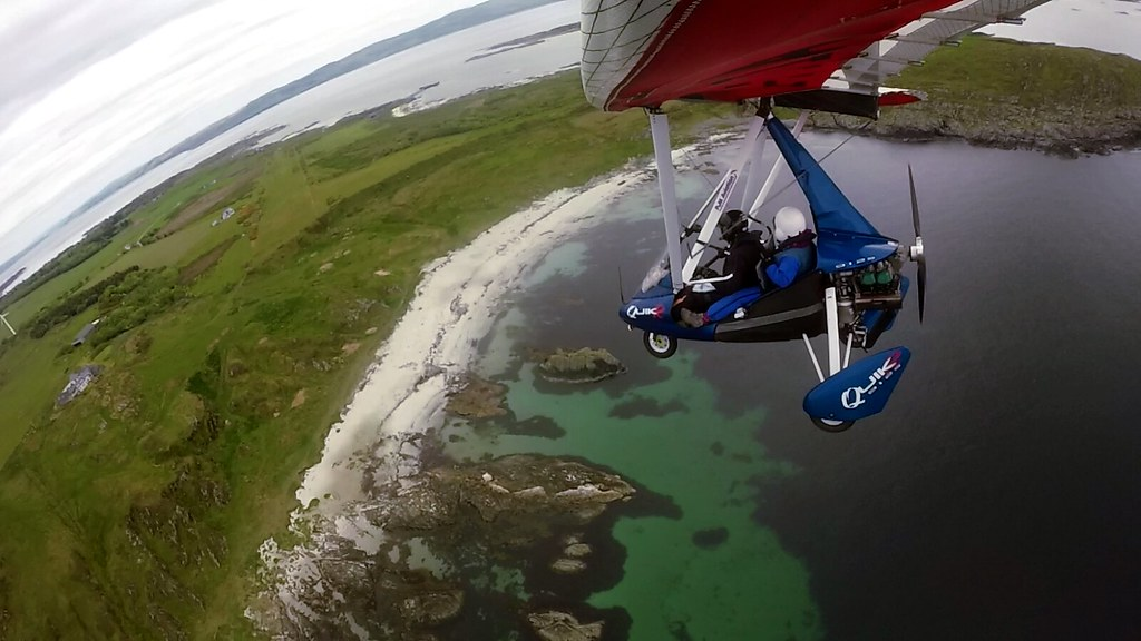 About to touch down, once more, on Gigha