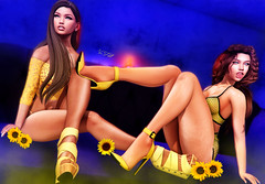 ◈№.699 - sunflowers (Alica Jinx van Hell) Tags: i3f breathe catwa maitreya opale hair sl secondlife girl sunflower equal10 event access anthem