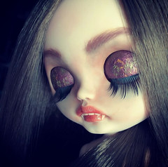 New Vampire (Art_emis) Tags: custom blythe doll dolls ooak handmade hand painted carved reshaped altered collectible toys vampire calavera catrina characters gils kawai blythecomeurope wip takara toy photography artemis ブライス 人形