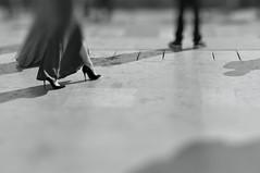 (Franck gallery) Tags: blackwhite noirblanc streetphoto candidstreet woman dress highheels robelongue tissu frabric longdress chaussures talonshauts d90 detail paris streetsofparis people bodypart