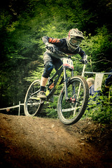 Ashcombe MTB Downhill 2019 (rmrayner) Tags: mtb downhill ashcombe mountainbikes bicycles devon woods forest hss sliderssunday topazadjust hdr sports action rider jump lomofilter