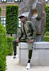 IMG_4673h (Defever Photography) Tags: blackmodel male model ghana belgium ghent portrait fashion adidas green