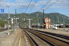 Train station @ Ambérieu-en-Bugey @ Hike around Lac de Nantua (*_*) Tags: marche walk randonnee nature montagne mountain hiking 2019 printemps spring may ain france europe jura amberieuenbugey sncf trainstation gare