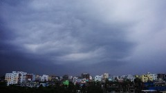 The terrible appearance of the evening cloud is seen from the roof of the city #Chittagong #Bangladesh. (Mr. Meow!) Tags: bangladesh chittagong