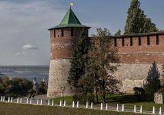 Kremlin in Nizhny Novgorod (Lyutik966) Tags: kremlin nizhnynovgorod russia wall tower brick texture architecture complex museum cityscape river volga