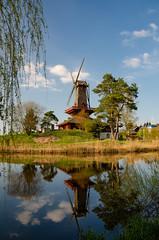 Windmill by the lake (FoThoMe) Tags: windmill lake pond reflecting spiegelung idyll windmühle landschaft landscape rural nikon d7000 sigma 1755 mm 28 gifhorn niedersachsen lower saxony germany deutschland