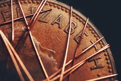 I Cu (orbed) Tags: elizabeth copper macromondays wire coin penny metal texture worn