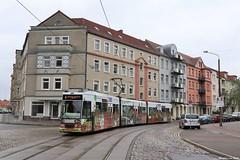 Brandenburg an der Havel - 29-04-1997 (Mat'97) Tags: tram tramway tramvaj tramwaj tramcar trams strassenbahn brandenburg an der havel karlmarx strasse linien 6 germany deutschland mgt6d