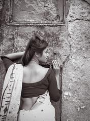 Lost in The Existence (MashrikFaiyaz) Tags: nikon d5300 asia southasia dhaka bangladesh april summer outdoor flickrunitedaward monochrome blackandwhite natural light sunlight portrait fashion model girl lady woman female saree dress getup outlook bareback hair curve sensual attractive posing traditional