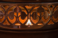 Copper and brass brandy warmer (christina.marsh25) Tags: copper brass brandywarmer tealight blue flame candle pan christmas brandy pudding macromondays