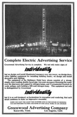 Greenwood Advertising Company (jericl cat) Tags: may 1915 greenwood advertising company night lighting billboard losangeles broadway electrical merchandise magazine ad advert illumination spectacular signage baltimore hotel vertical sign skidrow