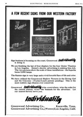 Greenwood Advertising Company (jericl cat) Tags: march 1914 greenwood advertising company night lighting billboard losangeles broadway electrical merchandise magazine ad advert illumination spectacular signage ranier beer east side quinns superba theater theatre century