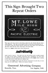 Greenwood Advertising Company (jericl cat) Tags: greenwood advertising company night lighting billboard losangeles broadway electrical merchandise magazine ad advert illumination spectacular signage mt lowe mile high pacific electric bulb