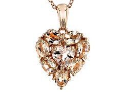 Pink Morganite 18k Rose Gold Over Sterling Silver Pendant with Chain 1.18ctw (ScarlettSinclaire) Tags: jewelry jtv jewelrytelevision jewelrylove gemstones
