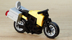 Touring Motorcycle (My Own Creation) (hajdekr) Tags: lego buildingblocks tip help tips inspiration design moc myowncreation toy model buildingbricks bricks brick builder buildingtoy motorbike travel touring moto motorcycle 18896 chassis traveling wheel wheels transport