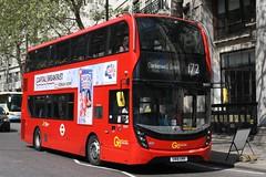 20190422 - 4028 - Go-Ahead - London Central - Enviro 400 MMC - No EH277 - Route 172 - Aldwych - London (Paul A Weston) Tags: goahead londoncentral enviro400mmc eh277 route172 aldwycheast london