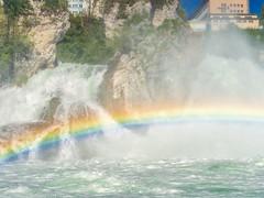 Rainbow on the Rhinefall (Steppenwolf33) Tags: rhinefall schaffhausen water steppenwolf33 rainbow river waterfall rhine