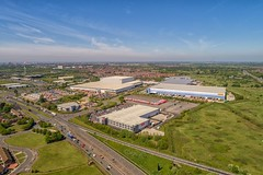 Home of a bargain, Home and Bargains Liverpool (Steve Samosa Photography) Tags: merseyside aerialview drone droneshot dhl retailers warehouses liverpool homebargains aerialphotography england unitedkingdom