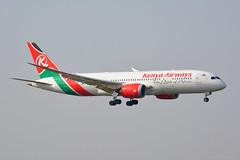 5Y-KZH Kenya Airways Boeing 787-800 EGLL 21/4/19 (David K- IOM Pics) Tags: lhr london heathrow 09l egll airport 5y 5ykzh boeing 787 787800 7878 b788 kenya airways kq