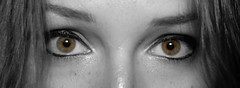 Windows into the Soul (_WilliamRichards_) Tags: eyes colorpop grayscale blackandwhite