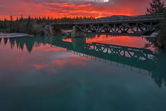 2017-11-AB-Seebe-Train-Bridge (gabbert_james) Tags: train bridge sunrise dawn kananaskis river alberta canada seebe dam