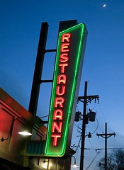 Restaurant, Omaha, NE (Robby Virus) Tags: omaha nebraska ne neon restaurant sign signage lit moon