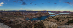 Overlooking Lake Powell (CraDorPhoto) Tags: canon5dsr panorama landscape lake water mountains nature outside outdoors utah usa alstrompoint sky blue