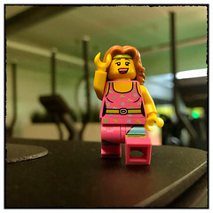 At the gym... (hd_lego) Tags: toys workout fitness gym minifigures hdlego lego