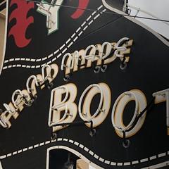 San Angelo, Texas (jericl cat) Tags: sanangelo texas leddy handmade boots neon sign