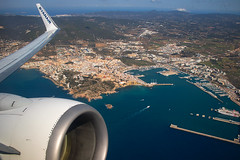 Ibiza Town After Departure (Shaun Grist) Tags: ryanair wingview ibiza spain ibizatown aircraft aviation airline avgeek shaungrist
