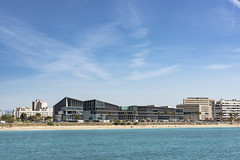 Modern building in the bay of Palma. Majorca (Sebas Adrover) Tags: balearic island mallorca marine nautical palma sea coast littoral mediterranean spain town palm panoramic touristic building urban harbor port downtown landscape landmark yacht aerial city tourism travel cathedral architecture capital old lagoon beautiful panorama church famous vacation summer view bay water sky majorca europe coastline cityscape seaside spanish culture majestic