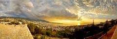 Jounieh From Adma (Paul Saad) Tags: pano panorama panoramic sunset sunrise dusk dawn lebanon jounieh tabarja adma lights sun nikon night
