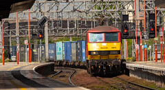 9Y0A5879 (kevaruka) Tags: staffordshire stafford freightliner freight train station class 66 90 may 2019 spring colour colours color colors yellow green sun sunshine sunny day england railway railfreight british rail network dof depth canon eos 5d mk3 ef100400 f4556l telephoto trains 5d3 5diii composition locomotive flickr front page
