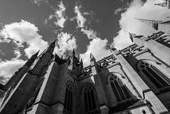 DSC01311 (Damir Govorcin Photography) Tags: st marys cathedral sydney blackwhite monochrome light shadows building architecture wide angle sony a7ii zeiss 1635mm clouds