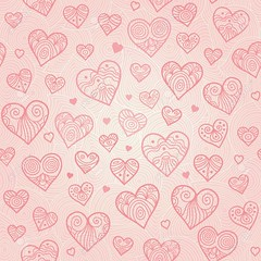 Ornamental seamless pattern with lacy hearts. (kellywall1) Tags: heart background seamless wrapping wallpaper decoration outline imprint floral spring ornament embroidery turkish vector tender bright summer light graphic pastel blossom handcraft feminine fashion idea abstract creative lacy illustration pink backdrop texture needlework design valentinesbackground colorful paper lace romantic valentine ornate beautiful romance tracery branch persian arabic valentinesday