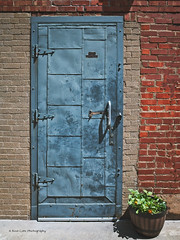 Potted Plant (Kool Cats Photography over 12 Million Views) Tags: weathered vertical verticallines textures textured texture style structure streetphotography stained rustic ricohgrii ricohimagingcompany pixabay photography photo outdoors old oklahomacity oklahoma metal image garden flowers entrance door detail dirty brick artistic art architecture aged