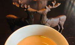 HMM (Mr. Happy Face - Peace :)) Tags: hmm art2019 metallic closeup elk deer macro macromondays butternut soup