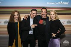 Beatriz Navas Valdes (dir. ICAA), Paolo Moretti (DG. Quinzaine), Sergio Caballero (dir. Sónar), Georgia Taglietti (Communication Sónar)